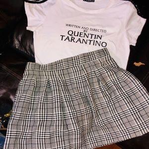 Quentin Tarantino shirt with candies brand skirt